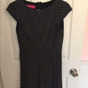 Nine & Co Dress - Black & White Polka Dots